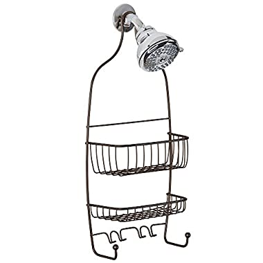 InterDesign Raphael Bathroom Shower Caddy for Shampoo, Conditioner, Soap - Bronze