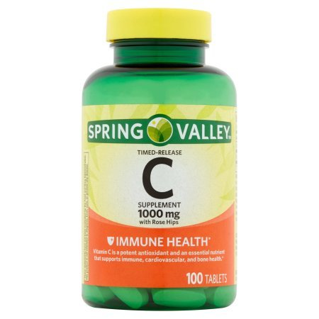 Spring Valley - Vitamin C 1000 mg, With Rose Hips, 100 Tablets