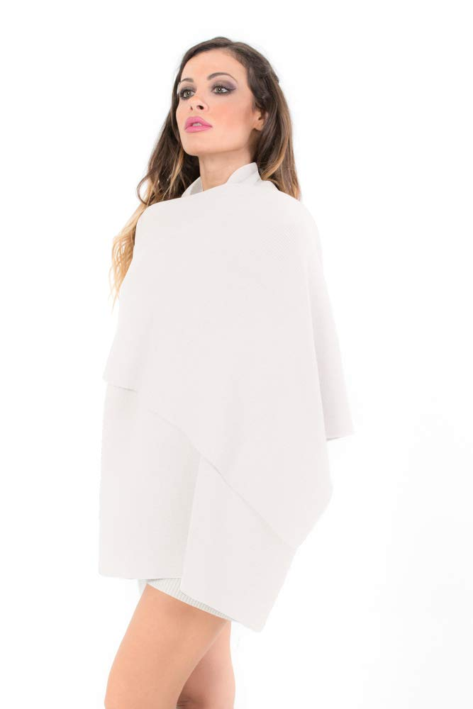 Pashmina Shawls for Women, Soft Wool Scarf, Extra Large Knitted Cashmere Wraps (Cream)