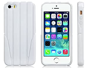Wire Drawing Hard Silicone Case for iPhone 5S/ 5 (White)