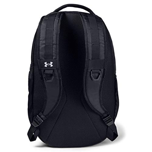 Black One Size Fits All 001 Under Armour Hustle Backpack //Silver