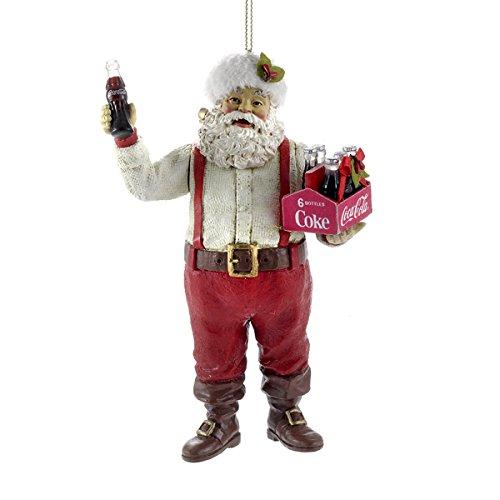 (Kurt Adler Santa Holding Coca-Cola Ornament, 5-Inch, 6-Pack)