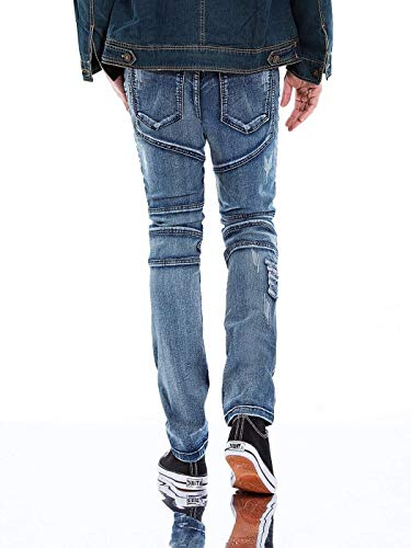Vaqueros Mezclilla Trousers Stretch Ropa Fit Slim Jeans Vintage De Pantalones Hellblau Fashion Destroyed De Casual Trousers Ripped Mezclilla Trousers FwdFa0q