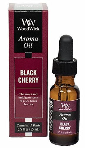 Cherry Black Scent Oil - WoodWick Aroma Fragrance Oils for Ultrasonic Diffusers, Black Cherry