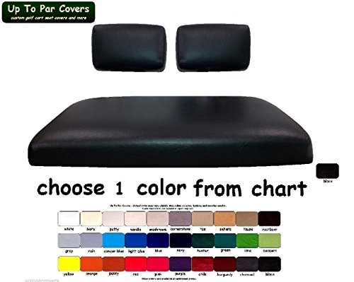 E-Z-Go Marathon Custom Golf Cart Seat Cover Set Made with Marine Grade Vinyl - Staple On - Choose Your Color From Our Color Chart! ()