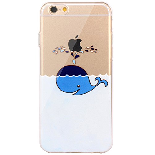 Price comparison product image iPhone 6 Case, iPhone 6s Case,JAHOLAN TPU Silicone Gel Soft Clear Case Cover for Iphone 6 6S -Dolphin Spray