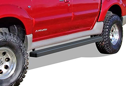 APS iBoard (Black Powder Coated 4 inches) Running Boards | Nerf Bars | Side Steps | Step Rails for 2001-2006 Ford Explorer Sport Trac Crew Cab Pickup 4-Door