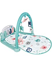 Baby Play Mat Kick, Play Multifunctional with Activity Centre, Baby Fitness Rack Pedal Piano Game Blanket, Piano Music Keys, Play Mats for Floor Baby Gym for Newborn Baby Toddlers