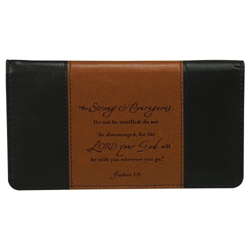 """Strong & Courageous"" Checkbook Cover"