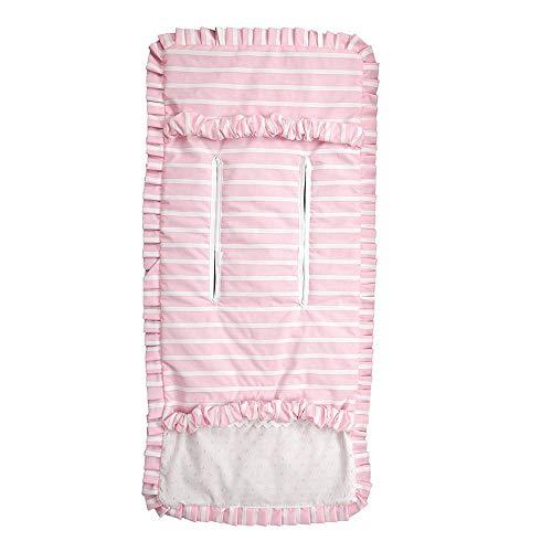 Babyline Oporto - Colchoneta ligera para silla de paseo, color rosa
