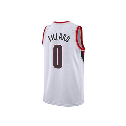 HS-QIAN1 0# Lillard Trailblazers Camiseta De Baloncesto Camiseta ...