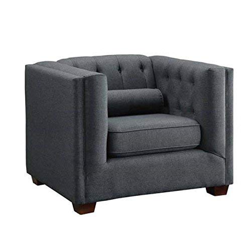 (Coaster Home Furnishings Cairns Upholstered Chair Charcoal)