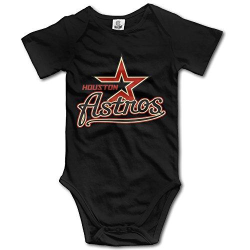 - Cute Boddy Texas Houston Baseball Little Boys Girls Short Sleeve Bodysuit Snapsuit Black