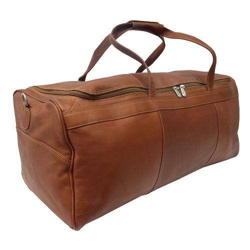 Piel Leather Traveler's Select Large Duffel Bag, Saddle, One Size ()