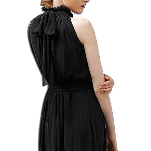 Col Manches de Cocktail Robe Soire Noir Longue Robes sans Haut KAXIDY Robe Mariage Soire gH6Ywqtnx
