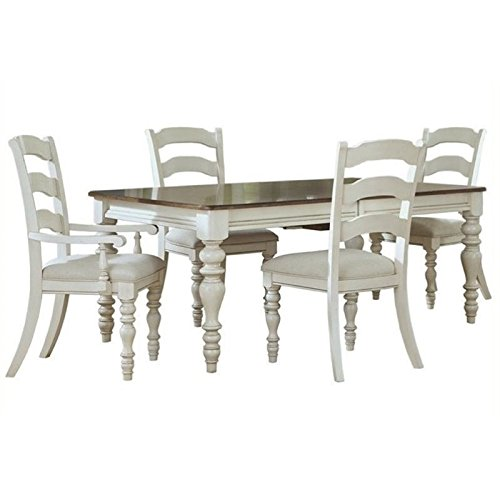 Bowery Hill 5 Piece Extendable Dining Set in Old White