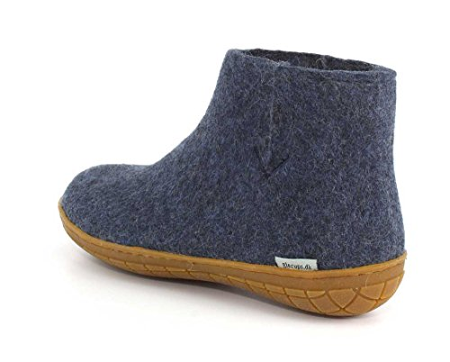 Women Slipper Anthracite Bleu Glerups Jean Rubber HqUOWxwdZ