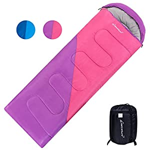 Clostnature Lightweight Backpacking Sleeping Bag All Weather Waterproof Camping Sleeping Bag For Adults Youths Women Mens Hiking Mountaineering Travel Compression Sack Included
