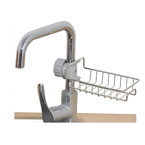 Faucet Drain Rack Sink Storage Stainless Holder Kitchen Sponge Rags Drying Tool by Agordo