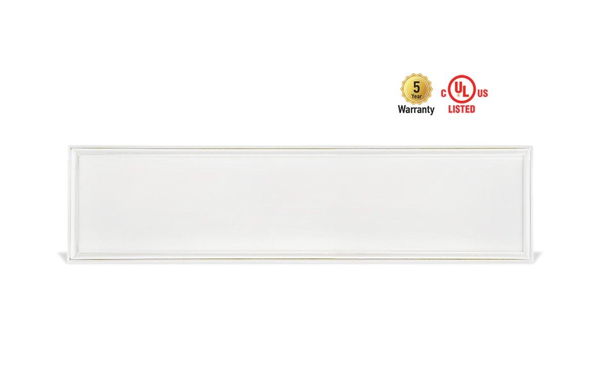 4-PACK ASD LED Panel Dimmable Edge-Lit Flat 1x4 40w 5000k by ASD Lighting Corporation