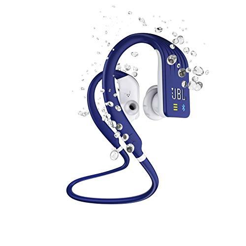 JBL Endurance Dive Waterproof Wireless In-Ear Sports Headphones with Built-in Mp3 Player (Blue) (Renewed)