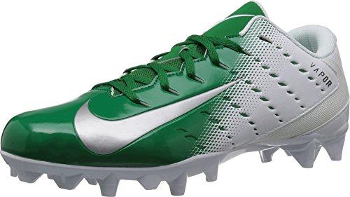 Nike Men's Vapor Untouchable Varsity Football Cleats 3 TD: White/Green (11.5 M) (Nike Mens Alpha Pro 2 Td Football Cleats)