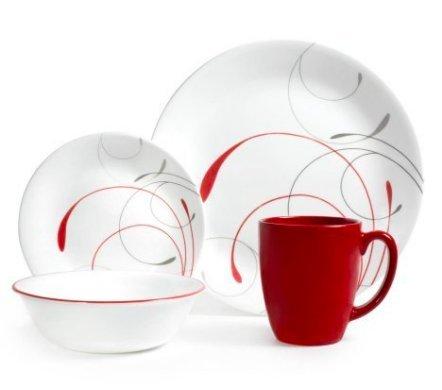 Pieces Contemporary 8 (Corelle Livingware 16-Piece Dinnerware Set, Splendor Coupe, 2 Pack (Service for 8))
