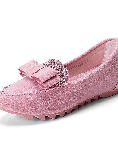 ShangYi Scarpe Blu Nero Donna Piatto Ballerine Scamosciato punta Pink Viola Casual A Formale Rosa Chiusa Moccasino FSFrd1wqnx
