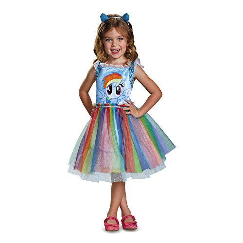 Rainbow Dash Movie Toddler Classic Costume, Blue, Medium (Little Pony Dress)