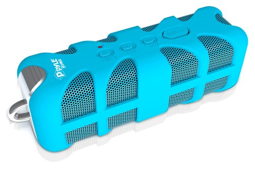 Pyle PWPBT60BL Sound Box Splash Bluetooth Rugged and Splash-Proof Marine Grade Portable Wireless Speaker Blue