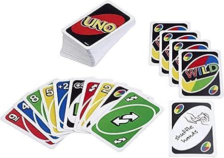 ML Pack de 4 Juegos de Cartas Uno, Juego de Mesa para niños y Adultos (Negro): Amazon.es: Juguetes y juegos