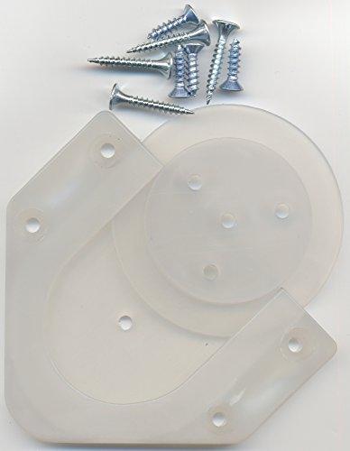 【ダーツボードアクセサリー】プロ仕様ボード設置具 新DartsBoardBracket ホワイト(半透明)新ボードブラケット
