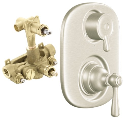 Moen T4111BN-3330 Kingsley Moentrol Valve Trim Kit with Lever Handle and Valve, Brushed Nickel by Moen