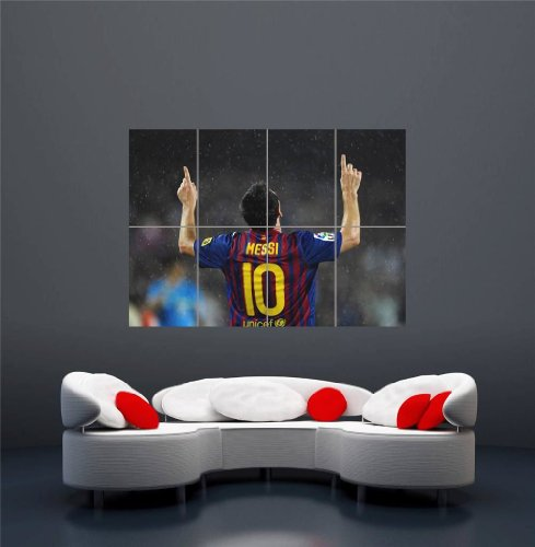 Lionel Messi Goal Celebration FC Barcelona Giant New Art Print Poster