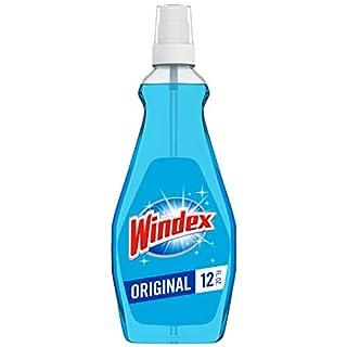 Windex Glass and Window Cleaner Spray Bottle, Original Blue, 23 fl oz - Pack of 2