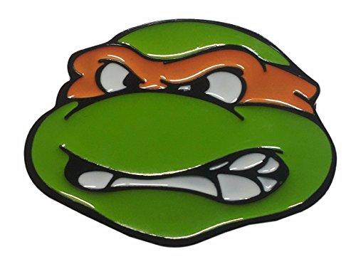 Teenage Mutant Ninja Turtles TMNT Michelangelo Orange Metal/Enamel Belt Buckle