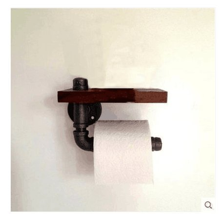 Yomiokla Bathroom Accessories - Kitchen, Toilet, Balcony and Bathroom Metal Towel Ring American rural industrial air retro pipe wall mount shelf shelf wall paper towel rack