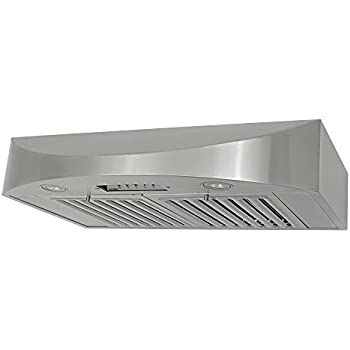 KOBE CHX3830SQB-2 Brillia 30-inch Under Cabinet Range Hood, 3-Speed, 650 CFM, LED Lights, Baffle Filters