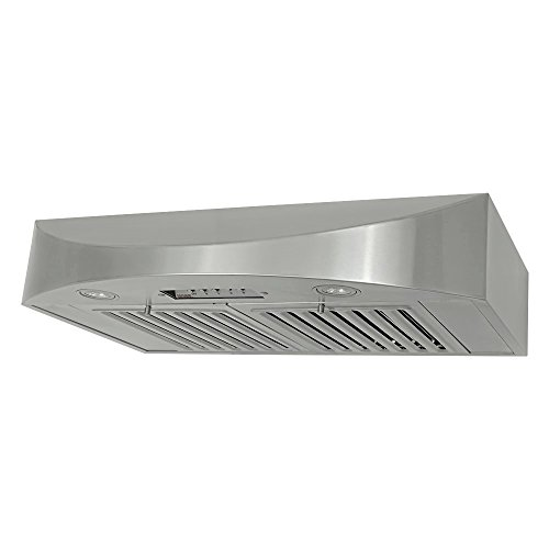 KOBE CHX3830SQB-2 Brillia 30-inch Under Cabinet Range Hood, 3-Speed, 650 CFM, LED Lights, Baffle (Broan Baffle Filter)
