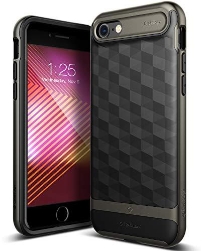 Caseology [Parallax Series] iPhone 8 / iPhone 7 Case - [Award Winning Design] - Black/Warm Gray