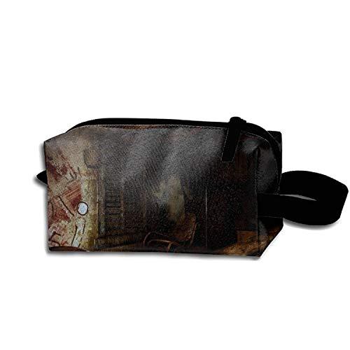 scakoko Cosmetic Bag Zipper Storage Bag Portable Ladies Travel Dark Creepy Horror Evil Undead Halloween Ghost Gothic Makeup Bag -