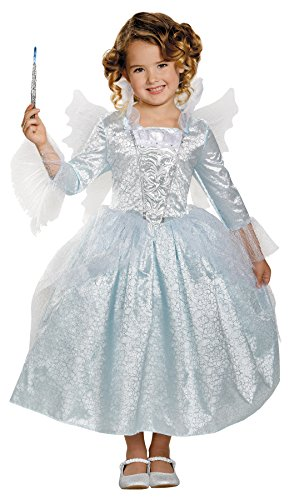 [Deluxe Fairy Godmother Child Costume - X-Small] (Child Fairy Godmother Costume)