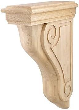 One Solid Wood Corbel 9 3 8 Tall X 6 1 2 Deep X 3 13 16 Wide Maple Millwork Corbels Amazon Com