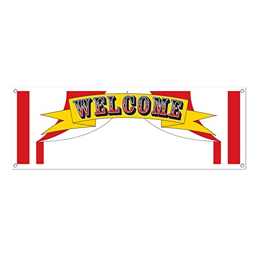 Welcome Sign Banner Party Accessory (1 count)