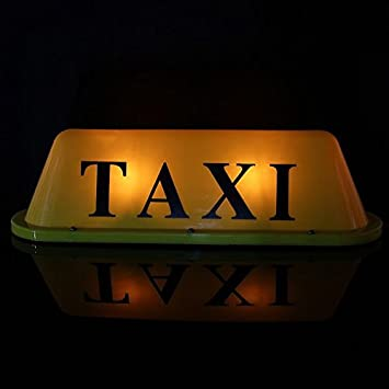 Led 12v Auto Taxi Cab Roof Top Zeichen Licht Lampen Magnetic Yellow