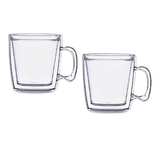 Set of 2 Signature Tumbler Plastic Glass Unbreakable Double-wall Insulated Coffee Mugs 12 Ounce (Insulated Plastic Mug)