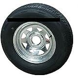 "ST205/75R14 LRC 6 PR Rainier ST Radial Trailer Tire on 14"" 5 Lug Galvanized Spoke Trailer Wheel"
