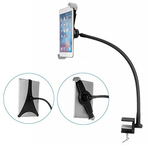 BESTEK 2 in 1 Upgraded Gooseneck Tablet Holder Mount Fully Rotating iPad Holder for iPad 2/3/4/ iPad Air/2/ iPad Mini 1/2/3/4 and other 7-10 inch Tablet &iPad Pro - Products Lifelong Metal