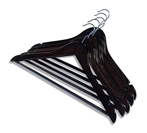 Clutter Mate Wood Clothes Hangers Dark Walnut Wooden Coat Hanger 20-Pack by Clutter Mate (Image #3)