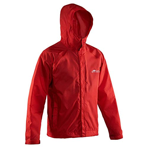 Grundéns Men's Weather Watch Hooded Fishing Jacket, Red, Large
